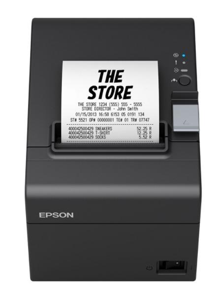 Impresora térmica Epson Pos TM-T20II (002) USB + Recibos de pedidos de apuestas en serie 80x80